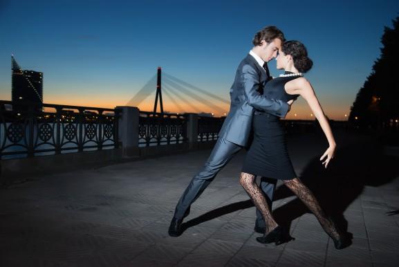 DanceTime Newsletter couple dancing at sunset