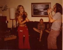 Pattie Wells, in her twenties, dancing