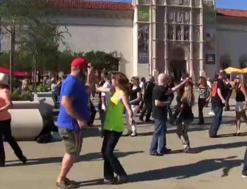 International Flashmob West Coast Swing 2015  San diego 2nd Dance
