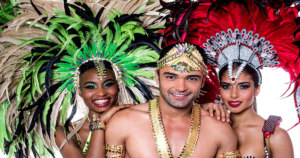Brazilian samba dancers in costume