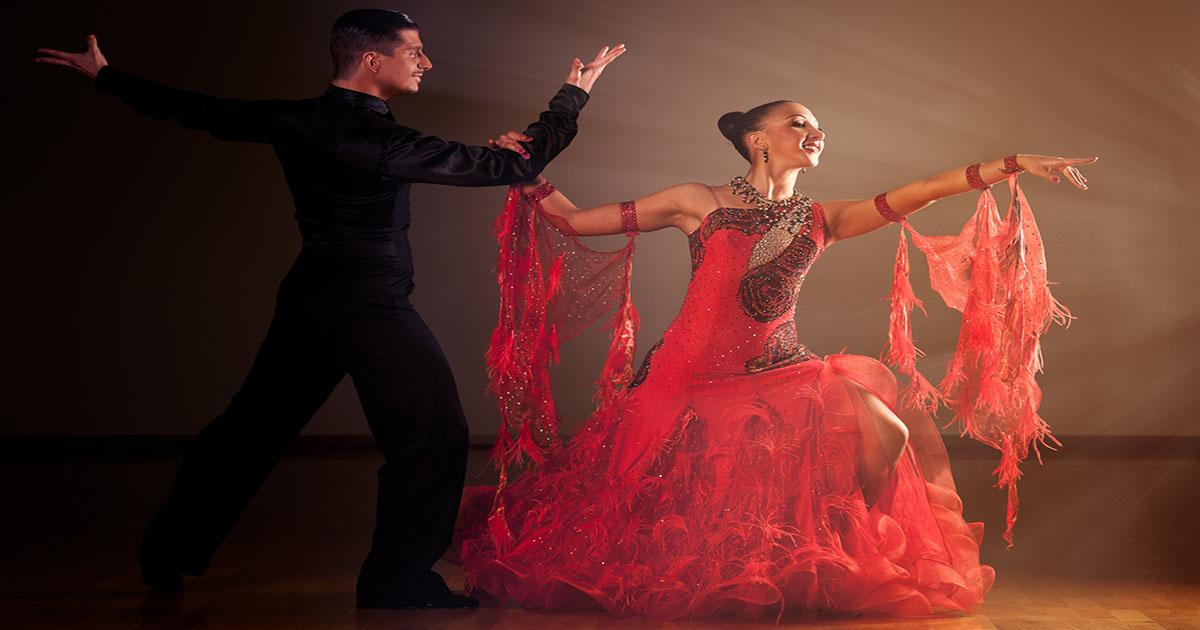 Foxtrot dance couple