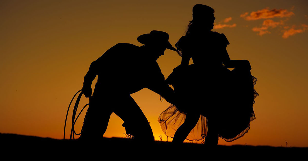 Country Western dancing couple