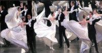 Viennese waltz dance team