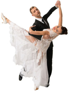 Waltz Dance Couple Bw X X on Foxtrot Box Pattern