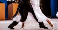 Waltz dancing couple
