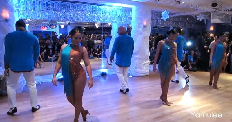 Hustle, salsa, bachata & jazz dance performances including Yamulee