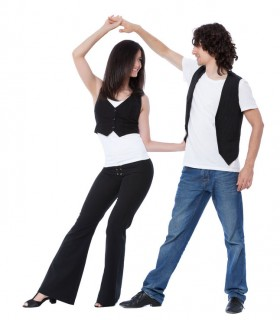 West coast Swing dance couple