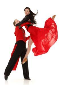 Latin ballroom dance style