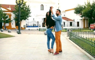 Fusion Afro Latin dancing couple