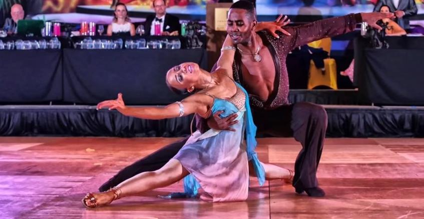 Emmanuelle & Liana dancing rumba