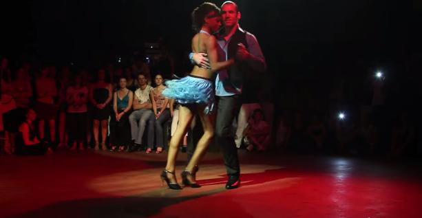 Felician & Isabelle performing a kizomba dance