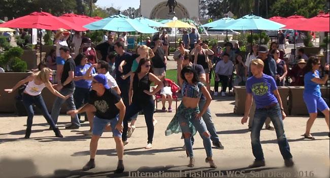 international flashmob west coast swing 2016