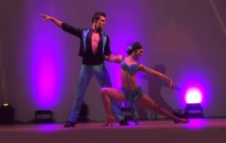 salsa pose by salsa dancers
