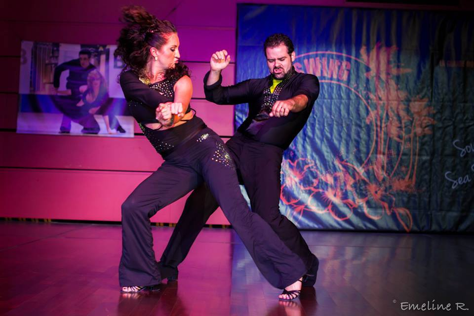 Tashina Beckman & partner west coast swing dancing
