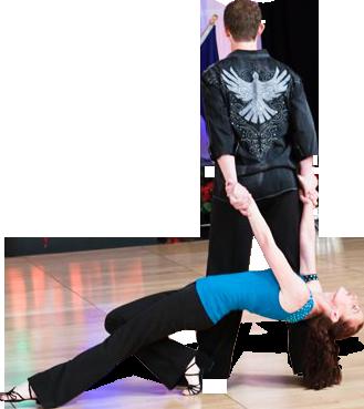 Swing techniques dance couple
