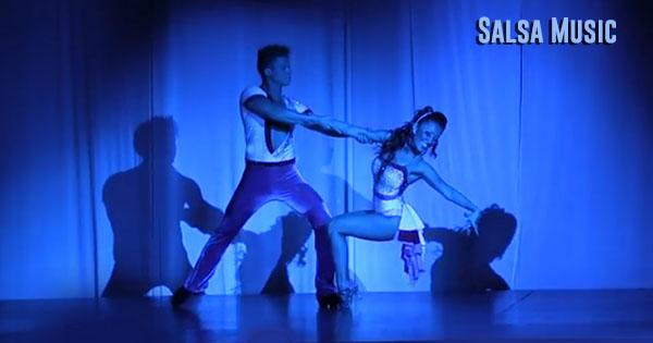 Dancers dancing to salsa dance music