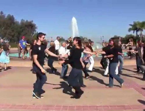 International Flashmob West Coast Swing 2015  San diego 1st Dance