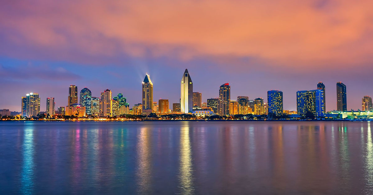 San Diego Downtown sunset