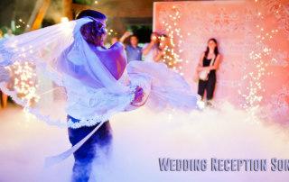 Wedding couple dancing to wedding Reception Songs